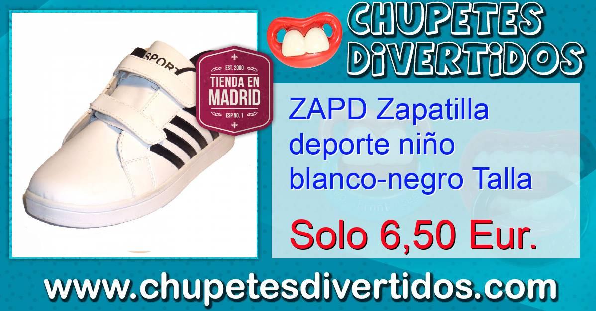 34 Negro Niño Talla Blanco Deporte Zapatilla Zapd YgFHqq